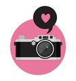 Retro Camera icon Flat style vector image