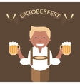Oktoberfest Poster with Man and a Mug of Beer vector image