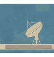 Satellite Dish Retro poster vector image