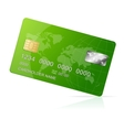 Credit Card green icon Isolated on white vector image