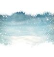 Snow landscape background EPS 10 vector image