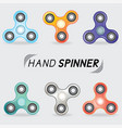 Realistic set of hand spinner toys vector image