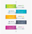 5 rectangle tab timeline infographic options vector image