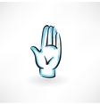palm hand grunge icon vector image vector image
