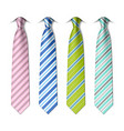 Striped silk ties vector image vector image