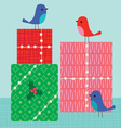 birds and gifts vector image