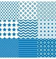 Circle Square Star Patterns vector image vector image