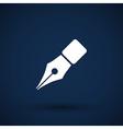 Fountain pen icon pen business write symbol vector image