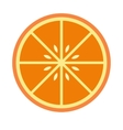 Sliced orange flat icon vector image