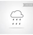 Cloud Symbol for Web vector image vector image