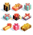Present and gift boxes vector image