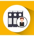 businessman character folder file concept vector image