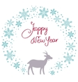 Christmas snow garland background with goat vector image