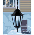 Decorative wrought iron lamp vector image