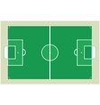 detailed soccer field vector image