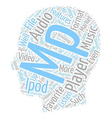 Features Of Your MP Player text background vector image