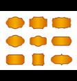 golden vintage frames set isolated elements vector image