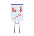 office presentation board with charts and diagram vector image