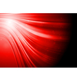 Red waves vector image