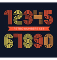 Retro stripes funky numbers settrendy elegant vector image