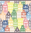 seamless shapes pattern of holland houses facades vector image