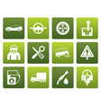 Flat car services and transportation icons vector image vector image