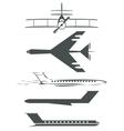 airplane symbols vector image vector image