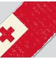 Tonga grunge flag vector image