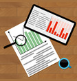 statistical finance analysis vector image