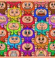cartoon monsters seamless vector image