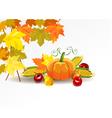 Thanksgiving celebration banner vector image vector image