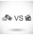 Cash vs card vector image