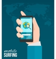 Hand With Mobile Phone vector image