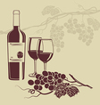 Background template for the wine menu vector image