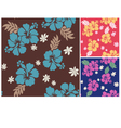 seamless flower summer fabric pattern vector image vector image