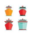 Cruise liner ship icon set Sea Ocean travel vector image