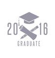 Class 2016 graduation celebration poster design vector image