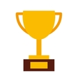 trophy gold isolated icon design vector image