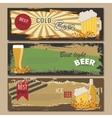 beer horizontal vintage banners Beer Mug vector image