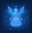 christmas lucent angel vector image