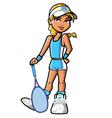 confident pretty blonde tennis player vector image