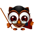 cute owl presenting vector image