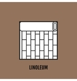 Flat icon of linoleum Finishing materials floor vector image