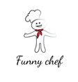 Funny chef symbols vector image