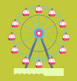 huge ferris wheel with round cabins isolated vector image