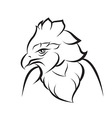 Line art of crown eagle vector image