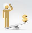 People over money vector image