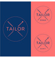 tailor logo vector image