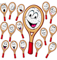 Tennis racket cartoon vector image