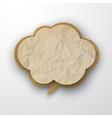 Wrinkled old paper cloud vector image